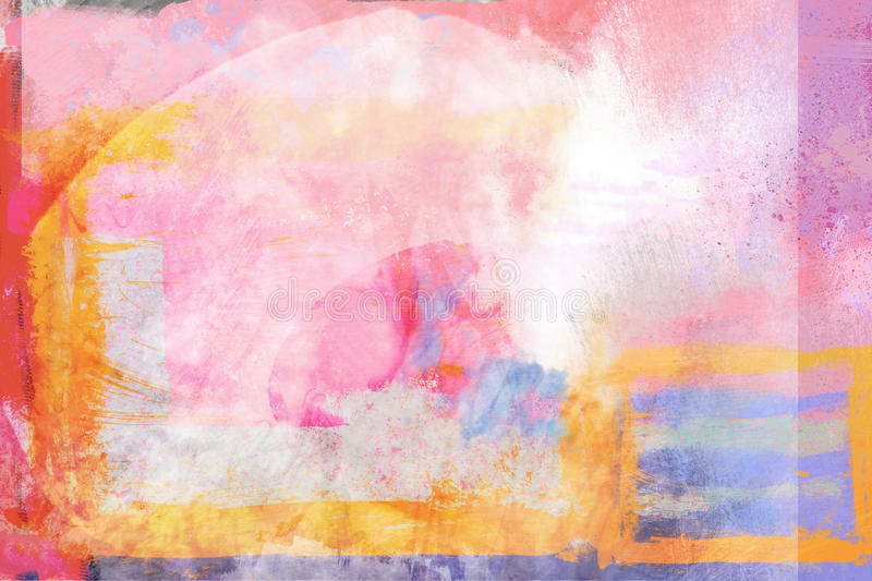 Abstract Painterly Warm Bright Background royalty free illustration
