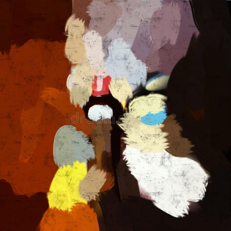 Abstract painting art. Drinking Brandy. stock image