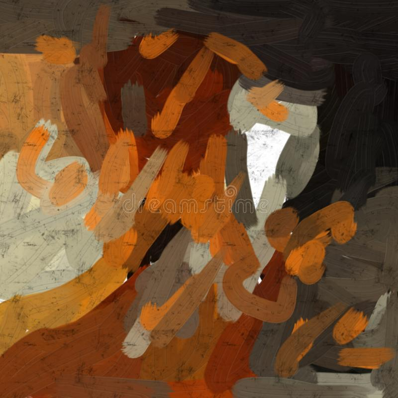 Abstract painting art. Drinking Brandy. royalty free stock image