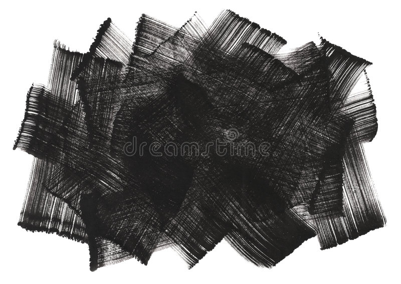 Abstract painting art ink brushwork vector illustration