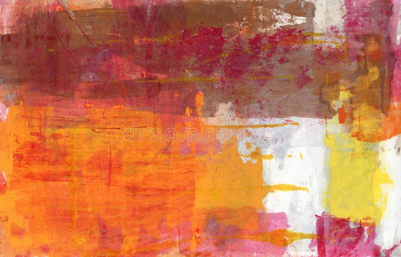 Abstract Painting  Orange Pink And Yellow royalty free stock image