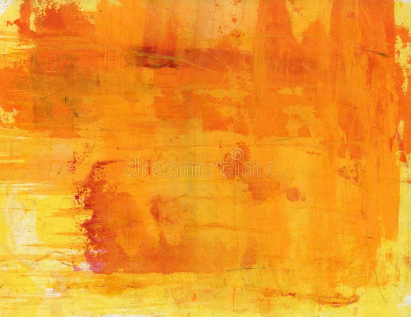 Abstract Painting  Orange And Yellow stock images