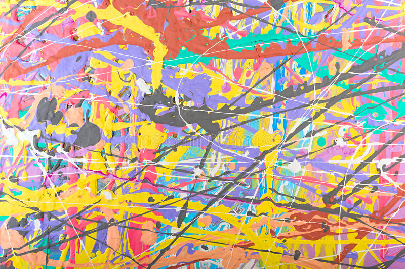 Abstract painting background illustration. Fragment abstract modern painting background with expressive splashes of paint. Acrylic on cardboard. Old chapped and vector illustration