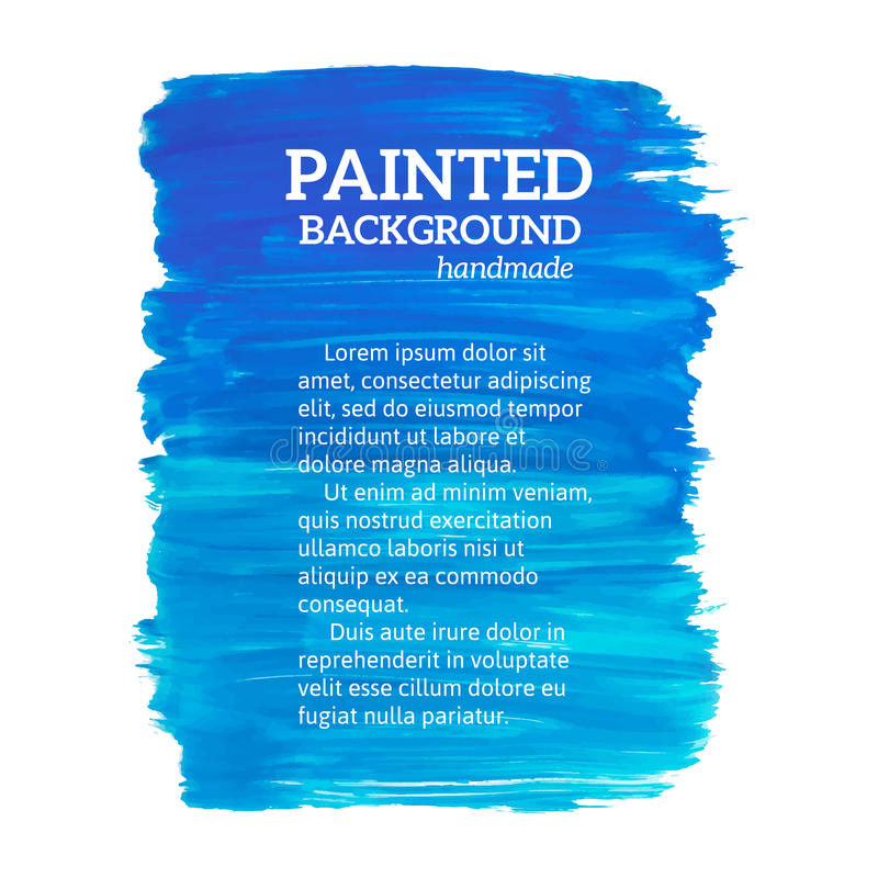 Abstract painting blue background. Vector illustration stock illustration