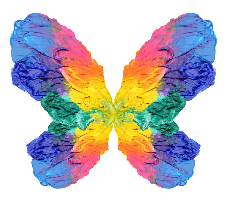 Abstract painting butterfly royalty free stock photos