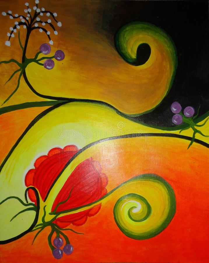 Abstract painting on canvas created background design stock image