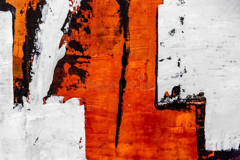 Abstract painting detail texture background with brushstrokes. Painted canvas fragment, abstract art painting detail texture background with brushstrokes stock image