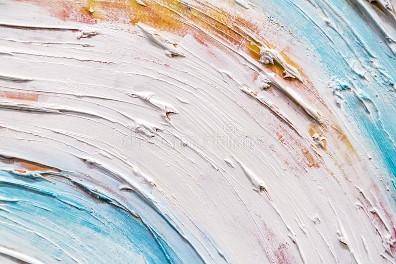 Abstract painting detail texture background with brushstrokes. Painted canvas fragment, abstract art painting detail texture background with brushstrokes royalty free stock photo