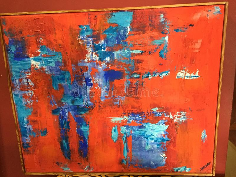 Abstract Painting. German artist red royalty free stock photography