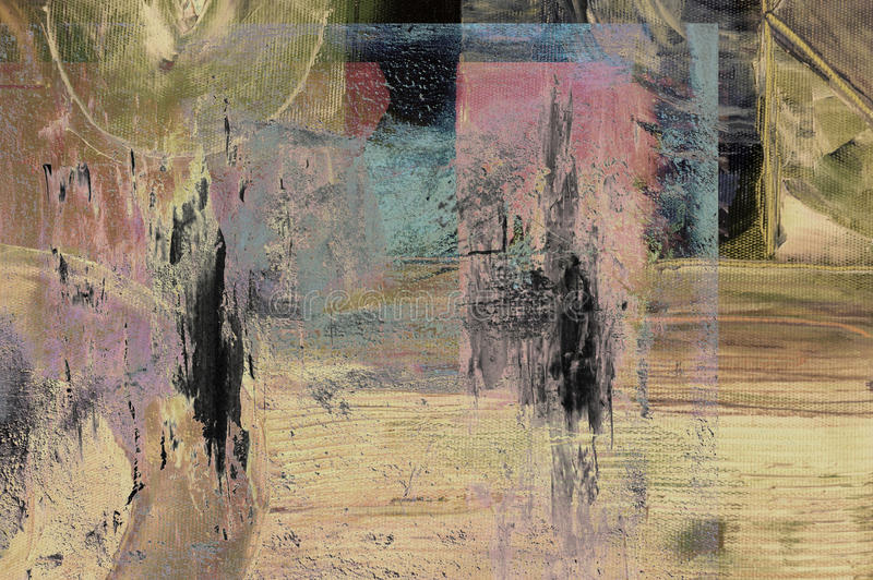 Abstract painting. Nice abstract image of a original oil painting on canvas stock images