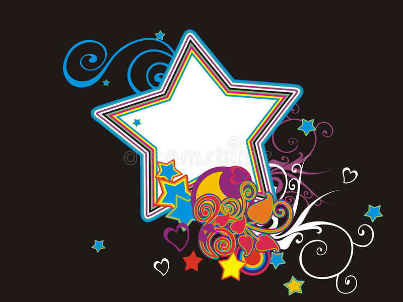 Download Abstract painting star set stock vector. Image of romance - 11346219