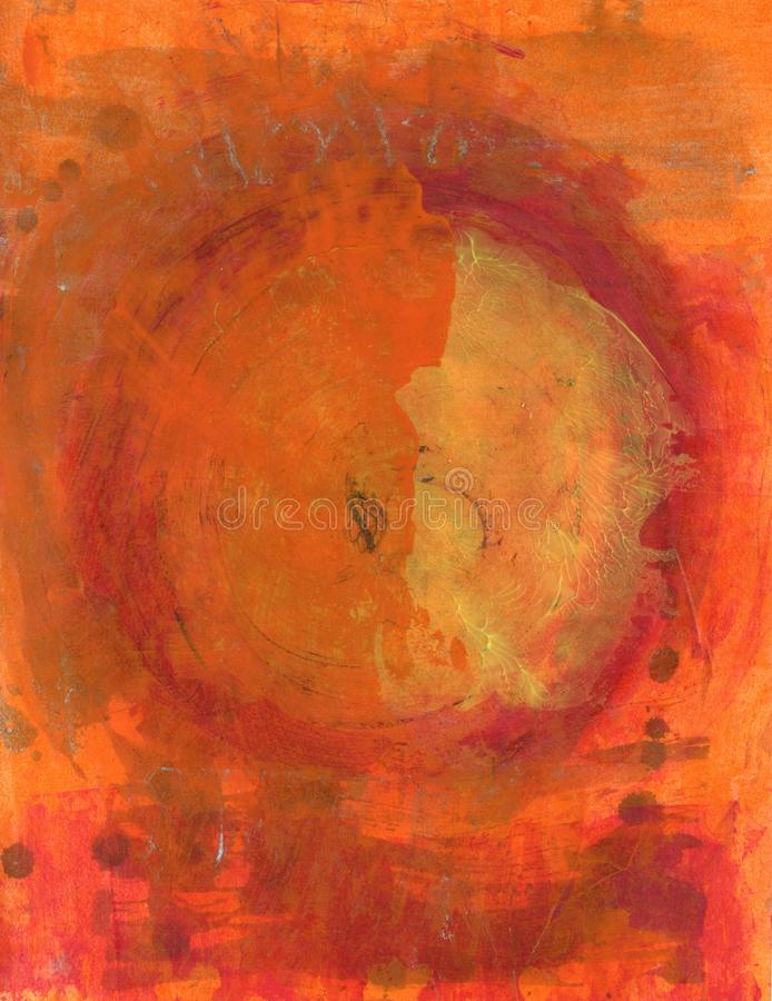 Abstract Painting  Sun Fire Circle royalty free illustration