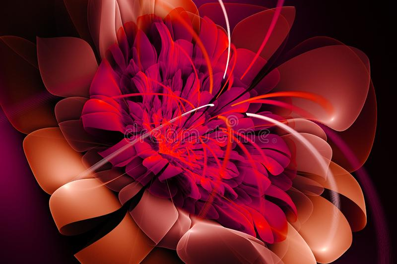 Abstract painting, Sunny flower royalty free illustration