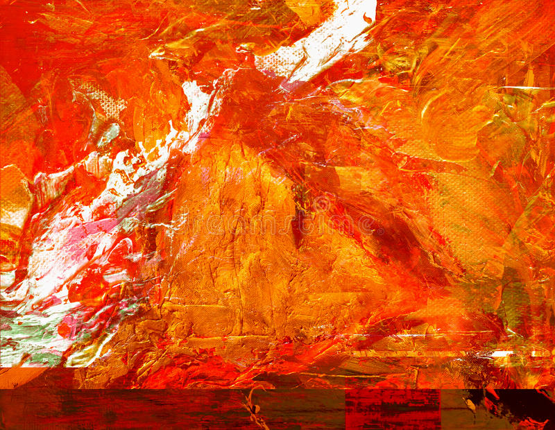 Abstract painting. Very nice large scale Abstract painting On paper stock image