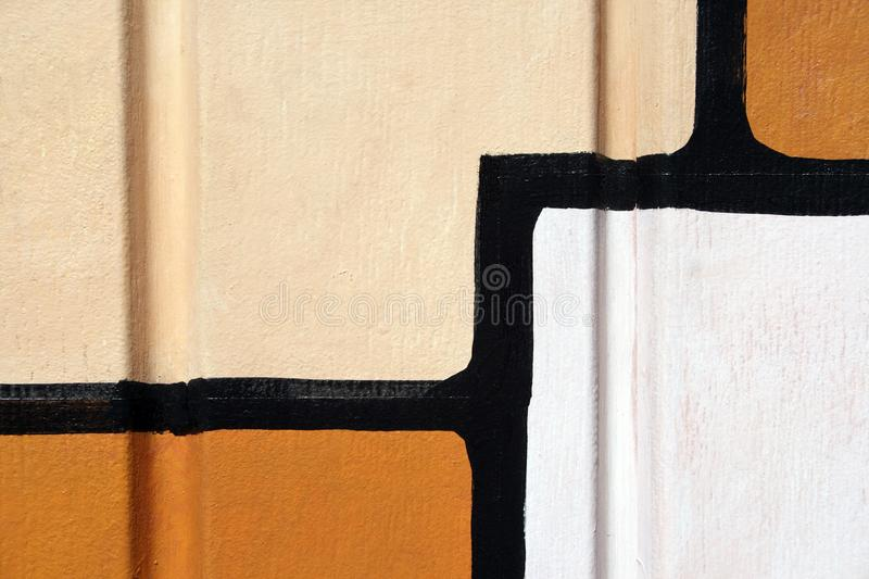 Abstract painting on a wall royalty free stock image