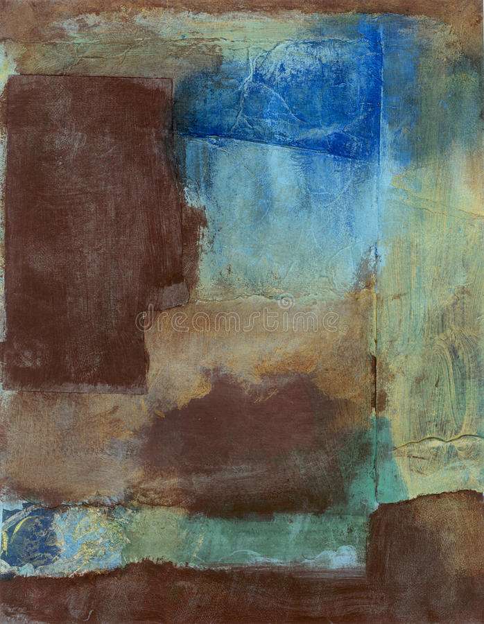 Free Abstract Painting With Textures And Earth Tones  Stock Images - 23925314