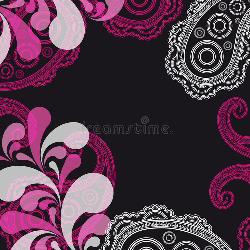 Abstract paisley background. royalty free stock photography