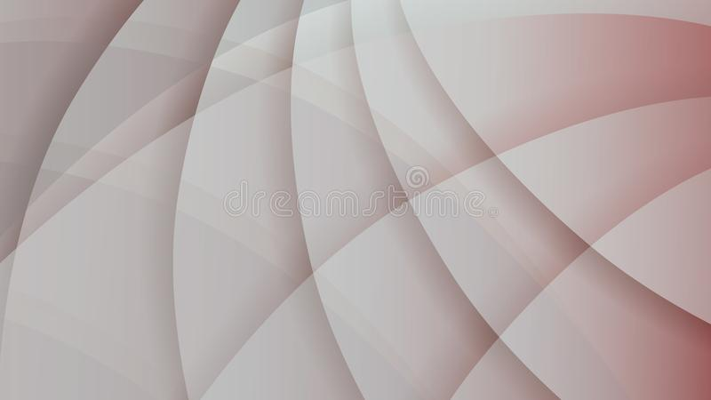 Abstract pale red and gray technology background. Abstract pale red and gray color modern technology background. Light color gradient rounded shapes with shadows stock illustration