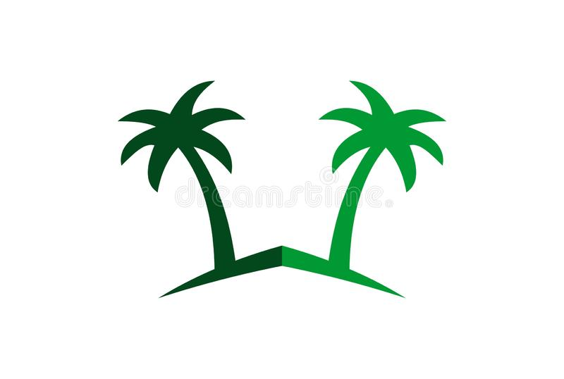 Abstract palm tree logo icon royalty free illustration
