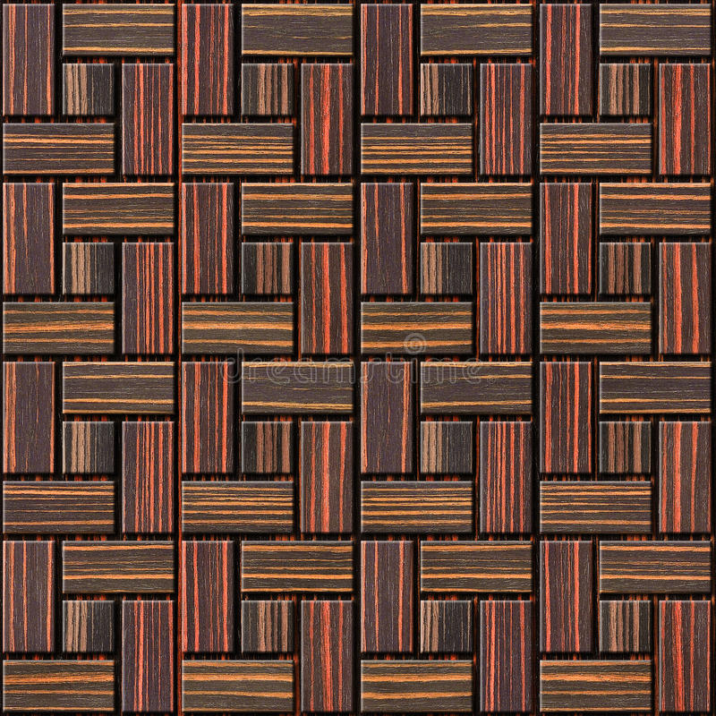 Abstract paneling pattern - seamless background - Ebony wood. Texture royalty free stock image