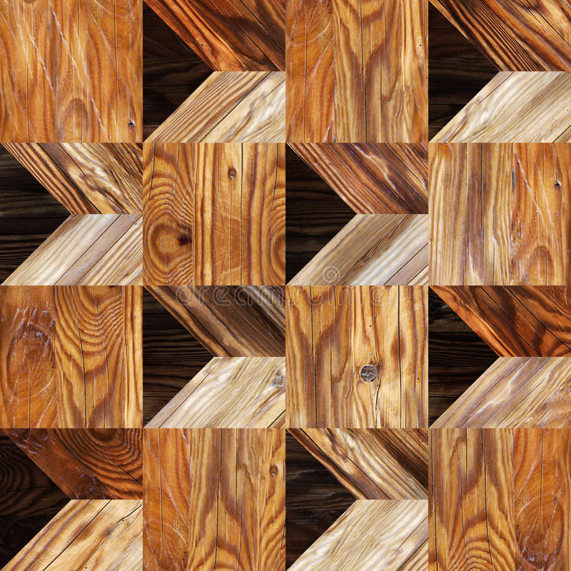 Abstract paneling pattern - seamless background. Wooden texture royalty free stock photo