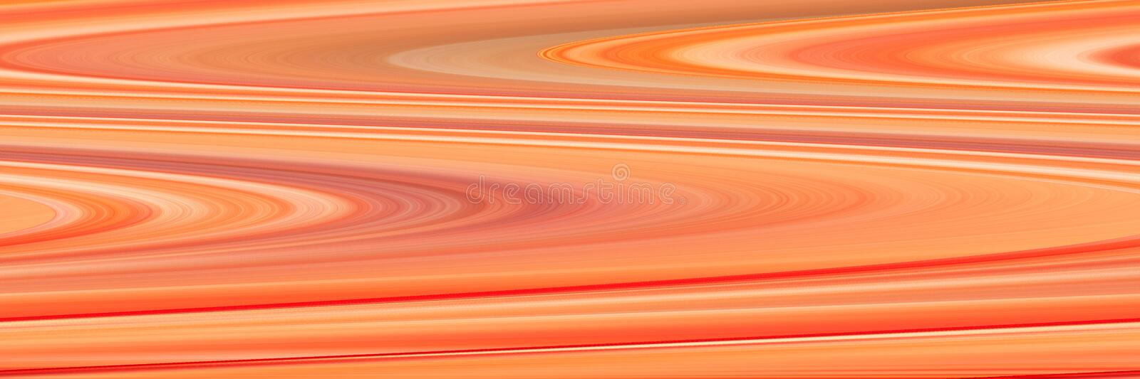 Abstract panoramic orange backdrop. Beautiful background with wavy lines stock photos