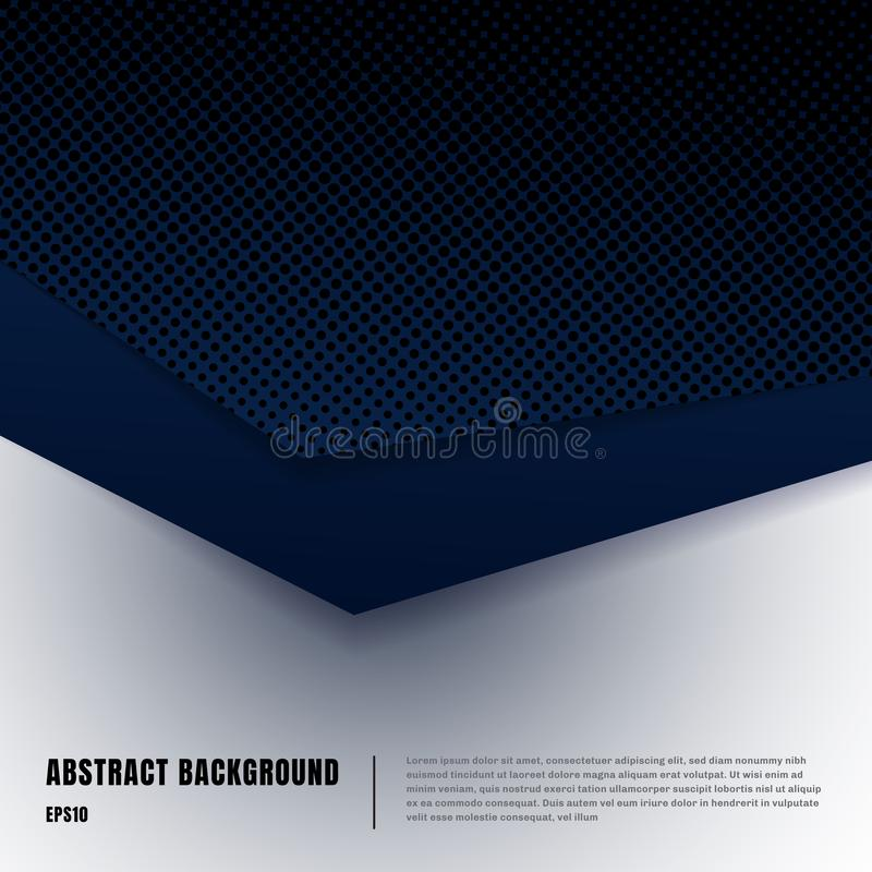 Free Abstract Paper Art And Halftone Style Layout Template. Dark Blue Gradient Triangles Overlapping Realistic Shadows On White Royalty Free Stock Photography - 152298187