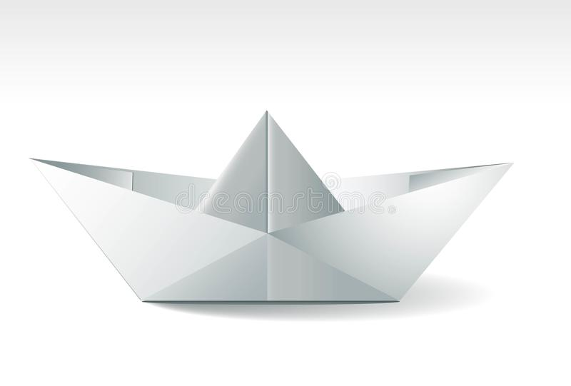 Abstract paper boat stock illustration