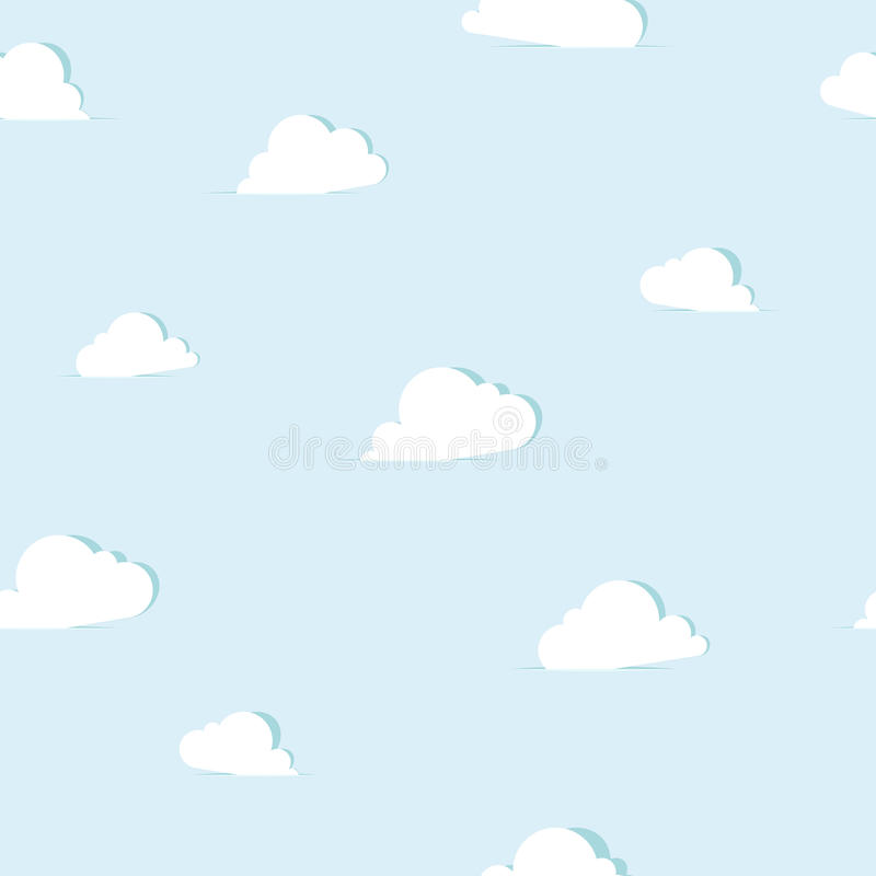 Abstract paper clouds seamless pattern. Vector illustration royalty free illustration