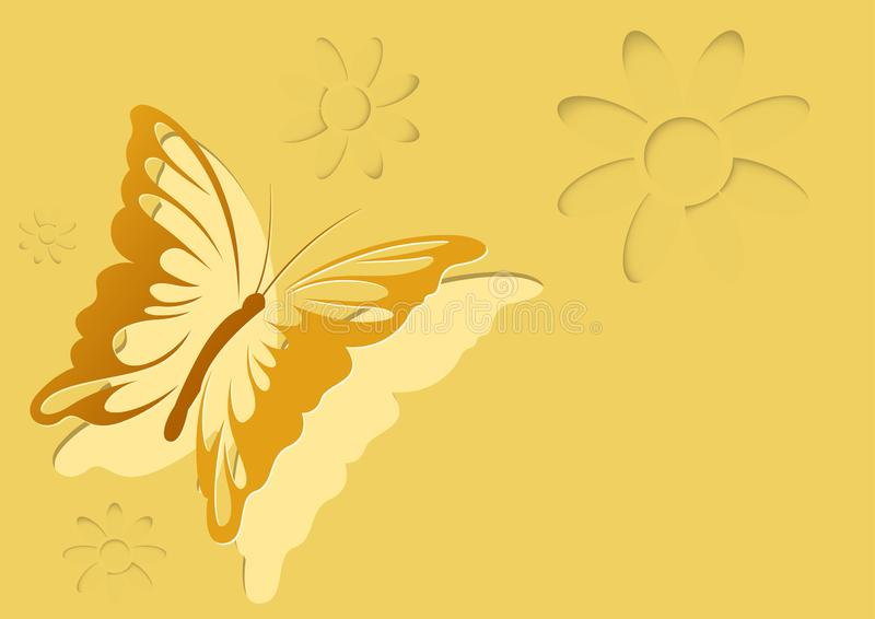 Abstract Paper Cut Out Butterfly Background royalty free illustration