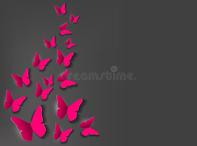 Abstract Paper Cut Out Butterfly Background. Vector Illustration vector illustration