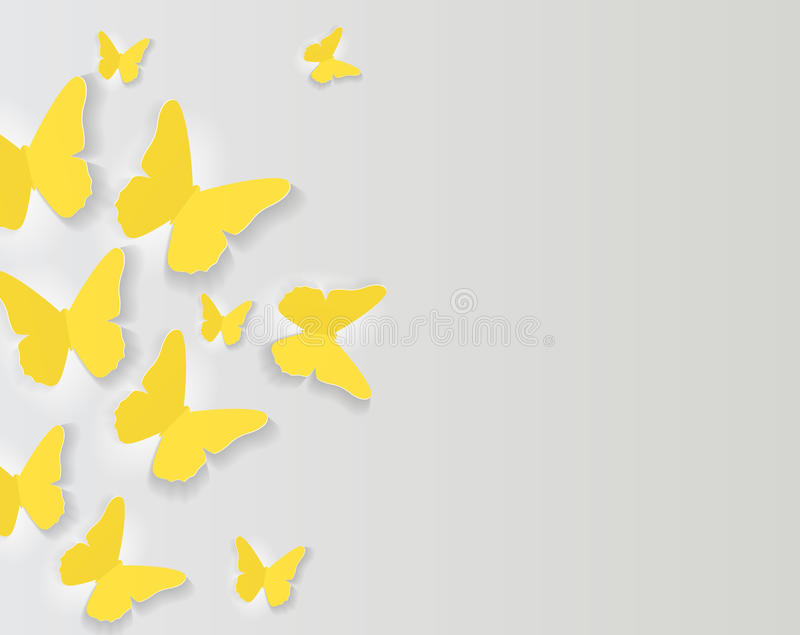 Abstract Paper Cut Out Butterfly Background. Vector Illustration. EPS10 stock illustration