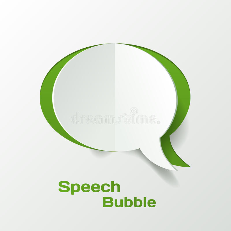 Download Abstract Paper Speech Bubble Stock Vector - Image: 34239822
