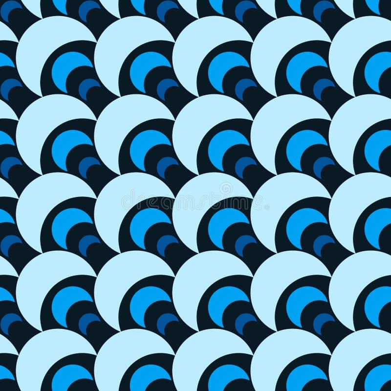 Blue parachutes seamless pattern vector illustration