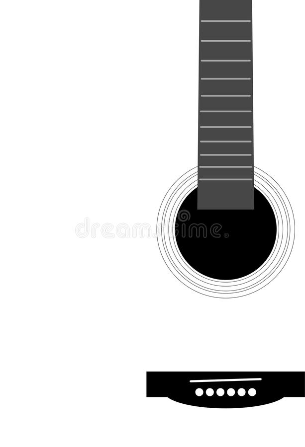 Abstract part of musical instrument - guitar. Illustration royalty free illustration