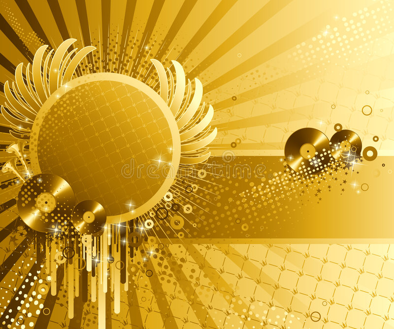 Abstract party design. Vector illustration royalty free illustration