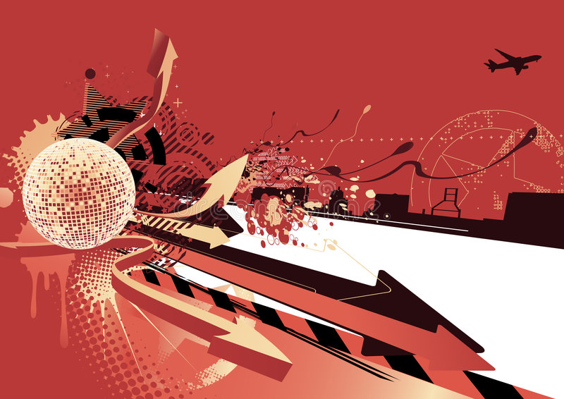 Abstract party design stock illustration