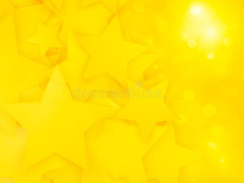 Abstract party pattern with yellow stars. Modern style abstract party pattern with yellow stars royalty free illustration