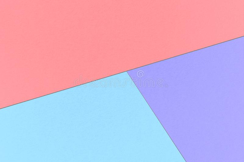 Abstract pastel background with Pale Cyan, Maximum Blue Purple and Tulip colors, watercolor paper texture stock photo