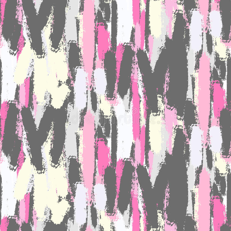 Abstract pastel color brush strokes seamless pattern. Abstract pastel color brush strokes bold seamless pattern. Soft neon pink and gray colors background vector illustration