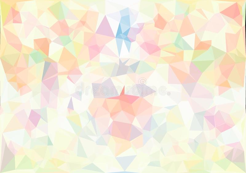 Download Abstract Pastel Color Low Poly Bokeh Wallpaper Stock Image