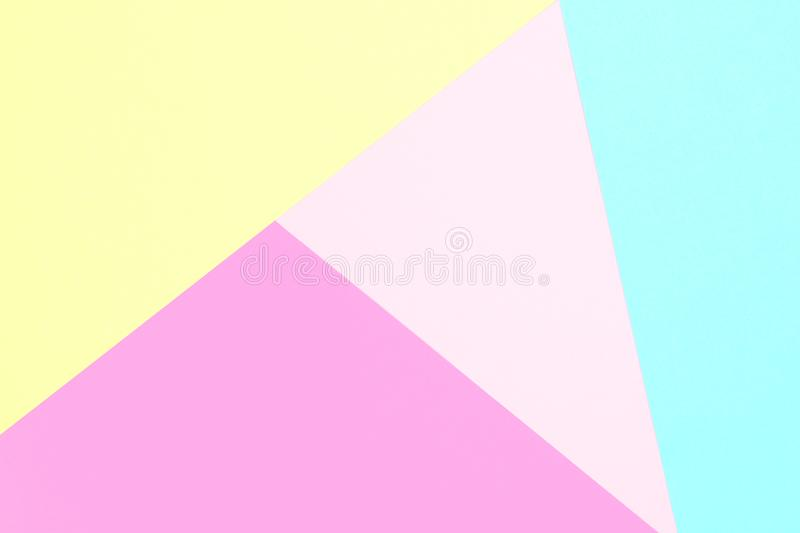 Abstract pastel colored paper texture minimalism background. Minimal geometric shapes and lines stock photography
