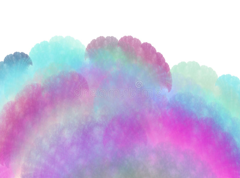 Abstract pastel colors fractal in the shape of fan flapper vector illustration