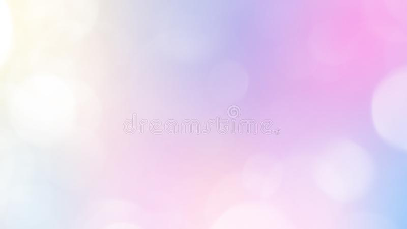 Abstract Pastel Fairy background with rainbow mesh. Kawaii universe banner in princess colors. stock illustration