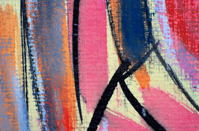 Abstract pastel painting. Closeup Macro detail of original pastel painting drawn by the Author in 1998 vector illustration