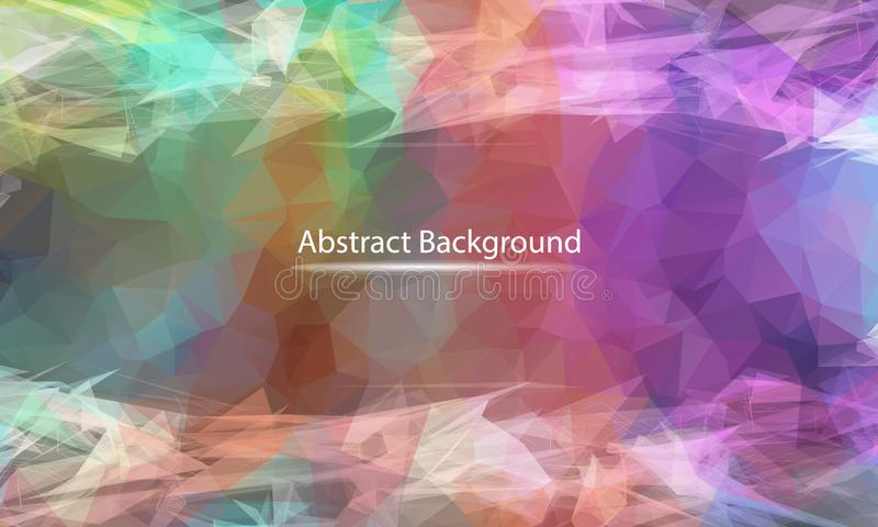 Abstract Pastel polygonal surface background. Low poly mesh design with connecting dot and line. Connection triangle structure. royalty free illustration