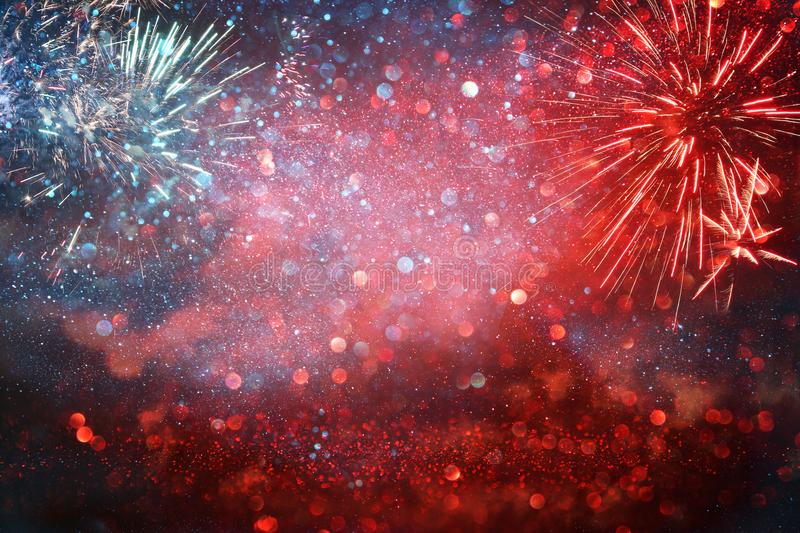 Abstract patriotic red and blue glitter. royalty free stock photos