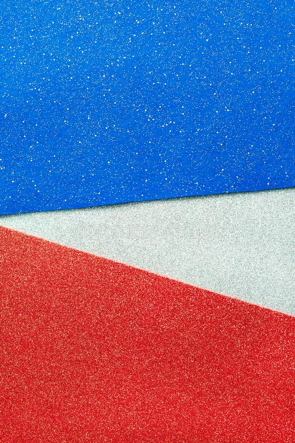 Abstract patriotic red white and blue glitter sparkle background for celebrations, voting, memorials, labor day. And elections stock photos