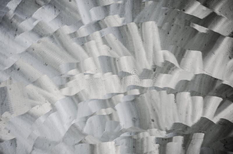 Abstract patroon in grijze kleur op roestvrij staaloppervlakte voor achtergrond royalty-vrije stock foto's