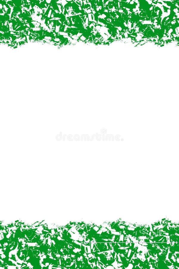 Abstract patroon, groene en witte kleuren, ontwerpachtergrond met leeg centrum, tekstplaats stock illustratie